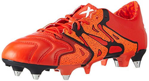 adidas Performance Herren X15.1 SG Leather Fußballschuhe, Rot (Solar Orange/Core Black/Bold Orange), 9,5 UK