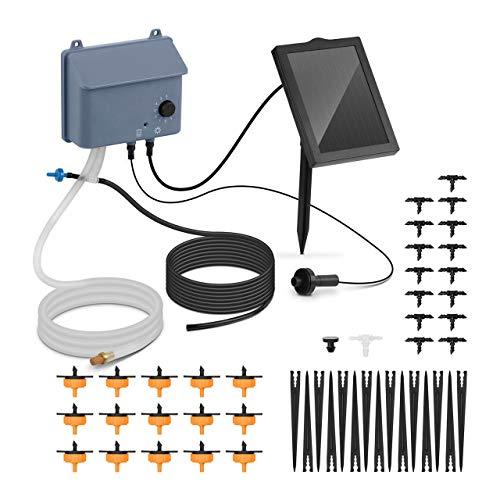 Hillvert Kit Irrigazione Solare Sistema Modulo Irrigatore HT-COSTIGAN-3600 (3,6 V, 1.200 MAh, 0,7 W, 3,5 V CC, 600 Ml/Min)