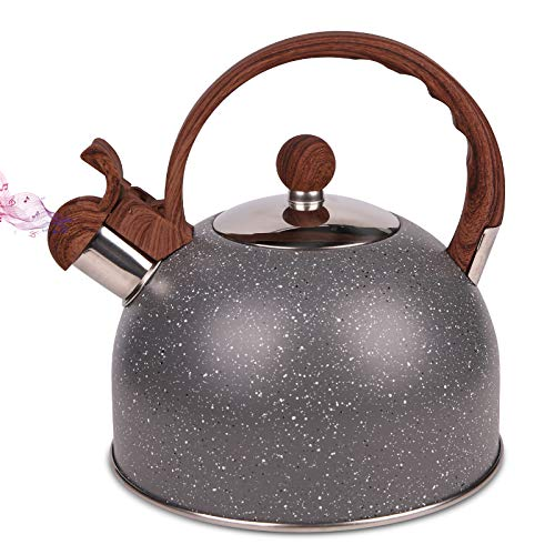 Whistling Tea Kettle 25L Stainless Whistle Teapot Water Boilers for Stovetops Induction Stone Kettle with Loud Whistle  Perfect for Preparing Hot Water Fast for Coffee Tea