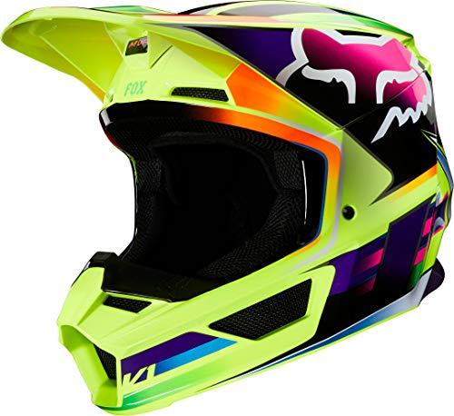 Fox V1 Gama Helmet, Ece Yellow, L