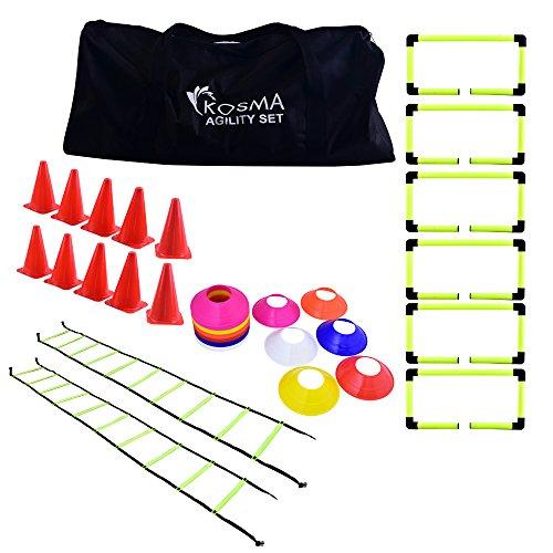 Kosma KG-26153 - Kit per Allenamento, Unisex, Colore: Giallo, Rosso, Taglia Unica