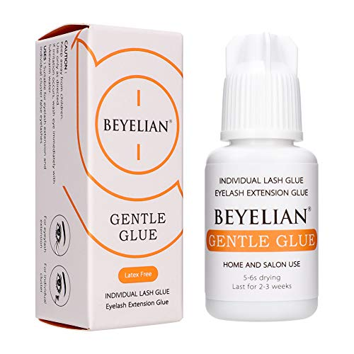 BEYELIAN Individual Lash Glue, Sensitive Lash Extension Glue DIY and Professional Use Gentle Adhesive Low Irritation No Fume