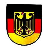 Deutschland Patch Aufbügler mit Spezial-Klebstoff einfach aufbügeln I Aufnäher Abzeichen Adler Germany Deutsch Flagge Fahne Bundeswehr Bund Armee Army Zeichen Shirt Jacke Cap T-Shirt...