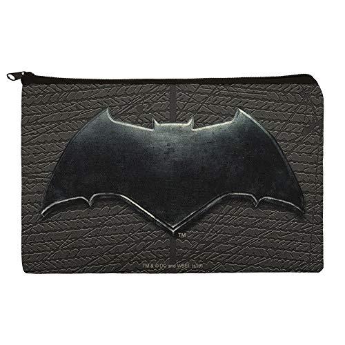 Justice League Movie Batman Logo Pencil Pen Organizer Zipper Pouch Case