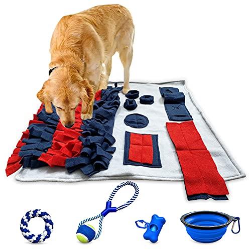 Schnüffelteppich Hund Intelligenzspielzeug Suchspielzeug Hund Schleckmatte Futterteppich Beschäftigung Strategiespiel Hundespielzeug Interaktives Spielzeug...