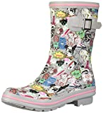 Skechers BOBS Women's Check-Mixed Media Print rain Boot, Gym, 8 M US
