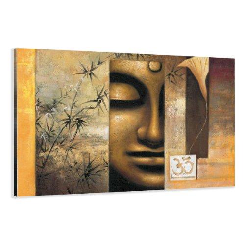 Visario Leinwandbilder 5157 Bild auf Leinwand Buddha, 120 x 80 cm