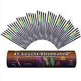 45 Pajillas brillantes | Deslumbrante | Mezcla de 5 colores | Aprox. 4 horas de luz