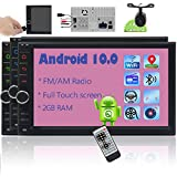EINCAR 2 Din Android 10.0 Car Stereo Touch Screen GPS Car Radio Navigation 7 Inch in Dash Bluetooth HD video Player Double Din support WiFi/4G Mirror Link AM FM RDS SWC 1080P 2GB with Backup Camera