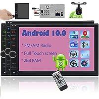 Eincar Double 2 Din 7インチAndroid 10.0 GPSナビゲーションカーステレオダッシュカーラジオ、Bluetoothビデオプレーヤー対応HDタッチスクリーン、WiFi / 4G、ミラーリンク、AM FMラジオ レシーバー 、ステアリングホイールコントロール、1080pビデオ、リアビューカメラ付き