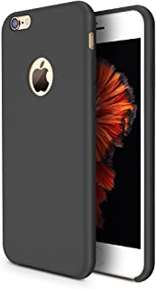 TORRAS [Love Series] iPhone 6S Case/iPhone 6 Case, Liquid Silicone Rubber Shockproof Case with Soft Microfiber Cloth Cushion Compatible with iPhone 6 / 6S, Black