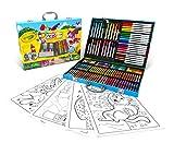 CRAYOLA Maletín del Artista; 155 Piezas, Rotuladores Lavables Supertips, Regalo para niños, Edad 4,5,6+ , Actividades Creativas, Lápices de Colores, Ceras, Hojas para Colorear