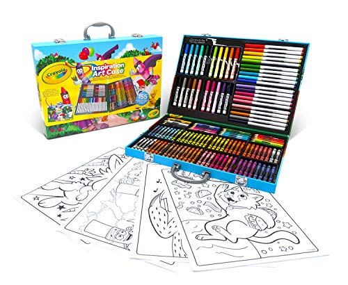 CRAYOLA Inspiration Art Case; 155 Art Supplies, Crayons, Gift for Boys and Girls, Ages 4, 5, 6, and Up, Arts and Crafts, Coloured Pencils, Supertips Washable Markers, Paper