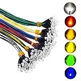 Lanyifang 120pcs 6 Couleurs Diode LED Pré-câblée Diode Ampoule LED Clignotant Câblé Diode...