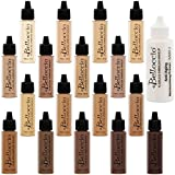 Belloccio Master Set Of All 17 Foundation Shades of Belloccio's Professional Cosmetic Airbrush Makeup, 1/2 oz. Bottles plus a 2 oz. Moisturizing Primer