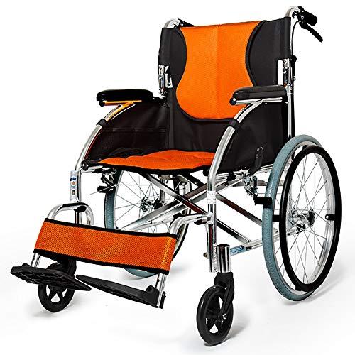 Sillas de Ruedas plegamiento Ligero Peso médico aleación de Aluminio Pedal Bolsa de Almacenamiento Ajustable Conveniente Plegado