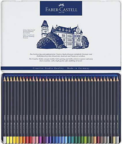Faber-Castell Creative Studio Goldfaber Color Pencils - Tin of 36