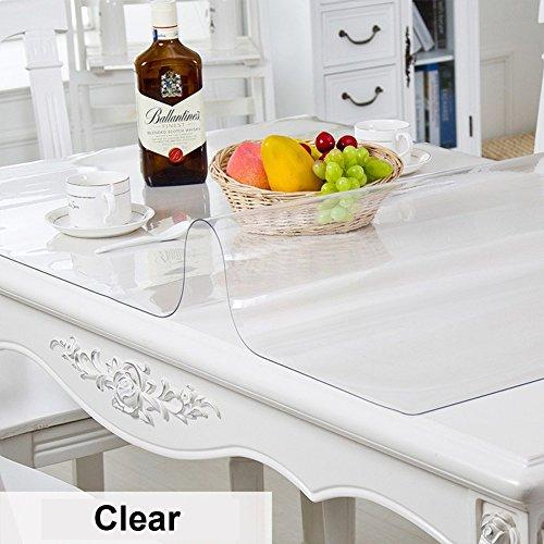 HM&DX Transparent Tischdecken Wasserdicht Ölfreie Abwaschbar 1mm dick Tischset Abdeckung Tuch Multi-Size Tabelle beschützer Für küche esszimmer couchtische-Kristall 85x135cm(33x53inch)