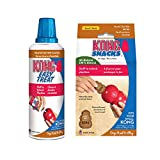 KONG - Treats Combo Pack - Easy Treat Paste and Dog Snacks - Peanut Butter Flavor for Small Dogs
