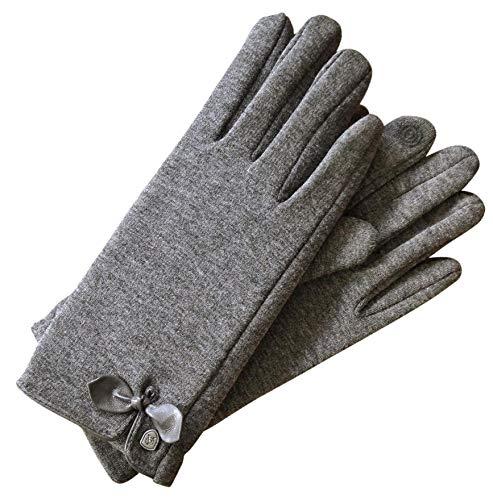 AKAROA ESTD 2019 Damen Handschuhe Liz, Touchscreen Handschuhe, extra weiches Teddyfutter, elastisches Jerseymaterial, 100% vegan
