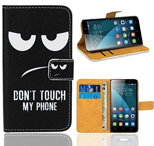 Huawei Honor 4X Handy Tasche, FoneExpert Wallet Hülle Flip Cover Hüllen Etui Ledertasche Lederhülle Premium Schutzhülle für Huawei Honor 4X