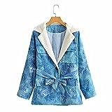 riou Mujer Lana Chaqueta con Capucha Frente Abierto Abrigo Fleece de Piel Sintética Invierno Deportivo Outwear con Bolsillos Cálido Chándal Cardigan