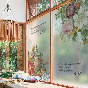 Glasfolie, Wohnzimmer, Balkon, Bad, Fenster, elektrostatische Folie, blickdicht, Sonnenschutz, 58 x 90 cm, Pekiao 58 x 90 cm