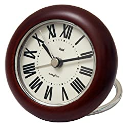 BAI Wooden Rondo Travel Alarm Clock, Roma