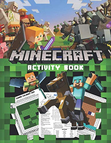 Minecraft Activity Book: Activities Book For Minecrafters: Crossword Puzzles and Pixel Art Minecraft for kids 9-12 (Amazing Activity Books For kids) (Minecraft Avtivities Books)