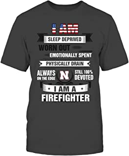 FanPrint Nebraska Cornhuskers T-Shirt - American Firefighter