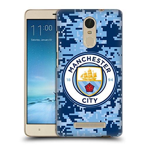 Head Case Designs Oficial Manchester City Man City FC Brick Bluemoon Camuflaje Digital Carcasa rígida Compatible con Xiaomi Redmi Note 3 / Pro