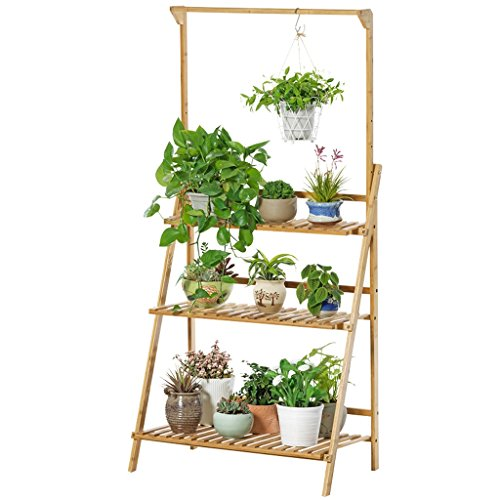 Présentoir d'usine, support se pliant de fleur en bambou, support accrochant de stockage d'usine de panier de balcon (taille : L100CM*40CM*96CM)