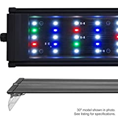 Lumen: 5200 LEDs: 120x 0.50W Config: 86x 10000K, 16x Actinic 460nm, 9x Red 620nm, 9x Green 520nm Timer Ready, 2 Mode Day / Night Suitable for freshwater, plants, cichlid