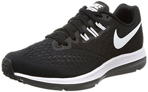 NIKE New Women's Zoom Winflo 4 Running Shoe Black/White/Grey 6.5