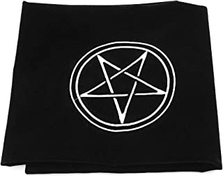 Simdoc 60×60cm Velvet Tarot Tablecloth Square Tarot Table Cover Altar Wicca Pentacle Sun Printed Velvet Tarot Tablecloth Embroidery for Board Game