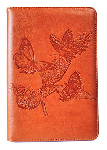 Butterflies Journal by SohoSpark, Writing Journal, Personal Diary, Lined Journal, Travel, 6x8.75 Notebook, Writers Notebook, Faux Leather, Refillable, Fountain Pen Safe, Sewn Binding