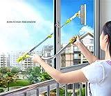 Limpiador de ventana telescópica Cuzit con paño de microfibra y paquete de goma estándar