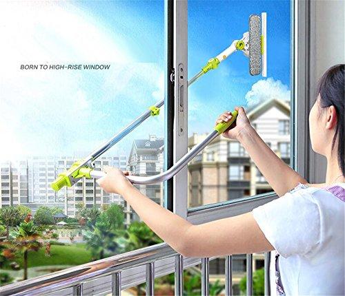 Limpiador de ventana telescópica Cuzit con paño de microfibra y...