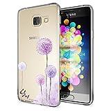 NICA Funda para el Samsung Galaxy A3 2016, funda fina Crystal con motivo de silicona, funda protectora fina transparente, funda estuche móvil para la parte trasera, transparente, resistente a los golpes