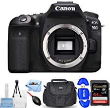Canon EOS 90D DSLR Camera (Body Only) 3616C002 Starter Bundle Includes: 64GB Extreme Pro SD, Memory Card Reader, Gadget Ba...