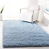 Safavieh Supreme Shag Collection SGS621D Handmade Solid 1.5-inch Thick Area Rug, 4' x 6', Light Blue
