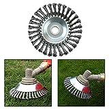 Yezytech - Tagliabordi, accessori per decespugliatore, spazzola da giardino per erbacce, 8 spazzole per tosaerba, in acciaio massiccio, per aree troppo cresciute