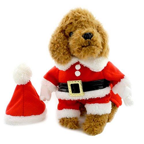 Pegasus Shih Tzu vêtements pour chien Vêtements pour chien Père Noël de Noël avec chapeau