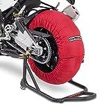 ConStands - Motorrad Reifenwärmer für Ducati 1198/1098, 848/ Evo Räder Set rot 60-80°C, 17 Zoll