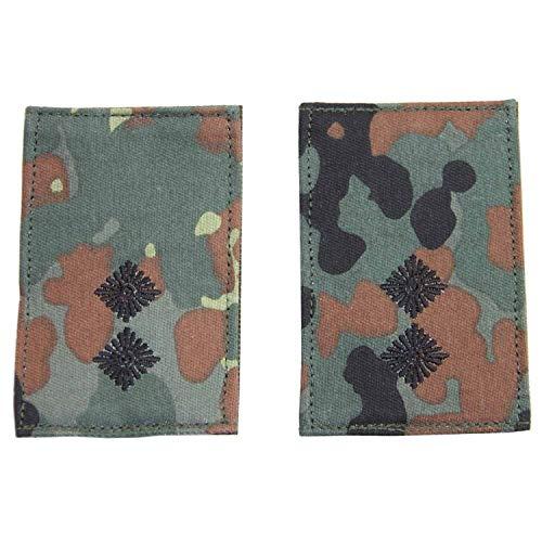 Unbekannt Rangabzeichen mit Klett flecktarn mit schwarzem Stick Oberleutnant