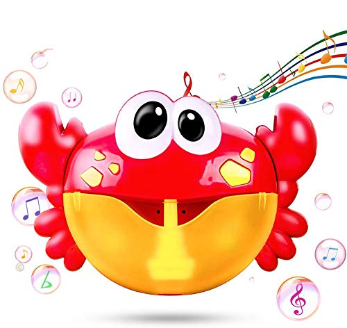 Musical Bath Toys for Boys Girls babybad Bubble Toy Crab Shape Bubble Machine voor kinderen van 3-7 Automatische Bubble Maker Badkuip Gifts for Babies Kinder Red