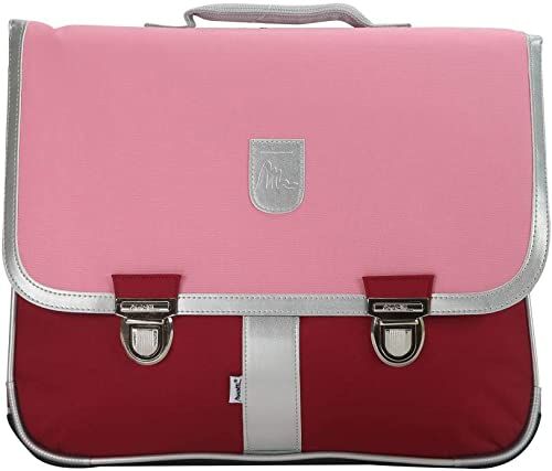 Bagtrotter MSNI10Rosa Miniseri Schultasche, Größe 39,5 x 16 x 33 cm, Farbe  Rosa Burgund
