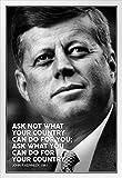 Poster mit inspirierendem Zitat von Präsident John F