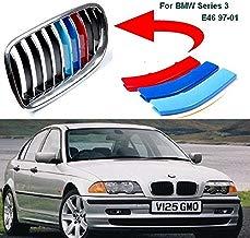 BizTech ® Parrillas de coche Inserciones Rayas decoración para BMW Serie 3 1998-2001 E46 10 rejillas M Power M Sport Tech