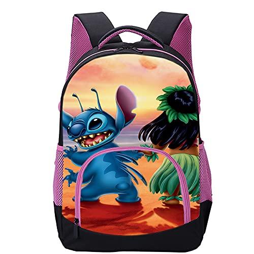 KKASD Mochila impresa en 3D de Lilo & Stitch Mochilas de ocio, mochilas de viaje, mochilas escolares para niños 45x30x15cm Mochila escolar para niños